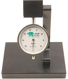 Radius gauge caliper for measuring oboe cane diameter